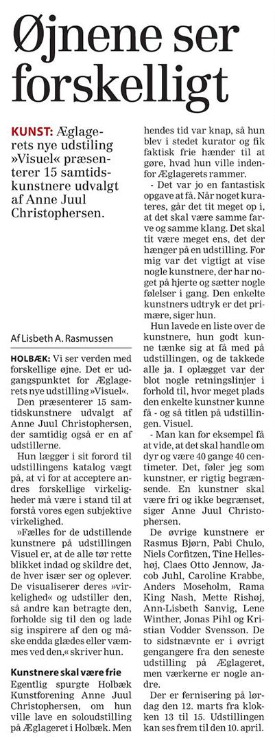 Artikel fra Nordvestnyt torsdag d. 10. marts 2016