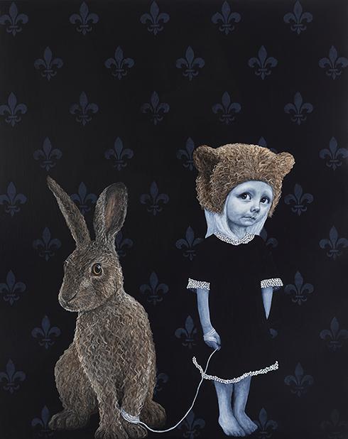 """Jeg tør godt"" - Akryl på lærred - Anne Juul Christophersen - 150 x 120 cm"
