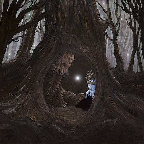 """""""Værn altid om din drøm"""" Akryl på lærred 150 x 150 cm"""