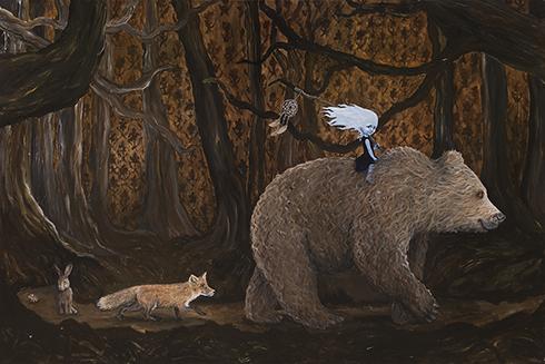 """""""Drømmefangere"""" Acrylics on canvas 100 x 150cm"""