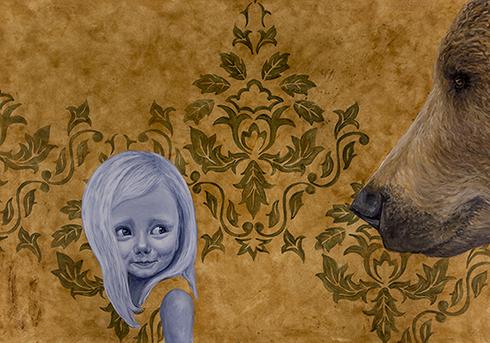 """En skytsåndedrøm II"" Acrylics on paper 70 x 100 cm"