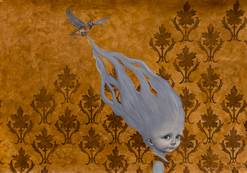 """""""En skytsåndedrøm IV"""" Acrylics on paper 70 x 100 cm"""