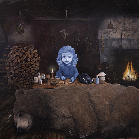 """Hibernation"" Acrylics on canvas 150 x 150 cm"