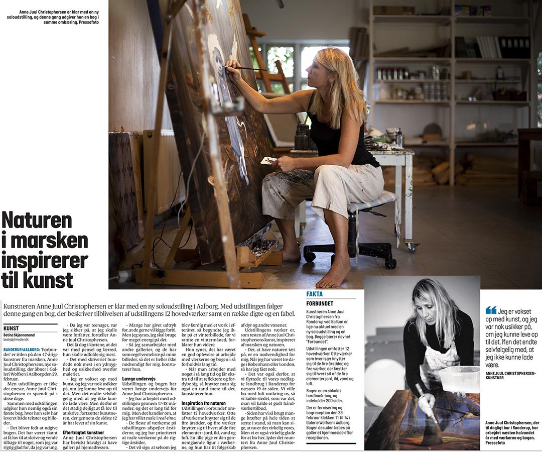 Artikel i Jydske Vestkysten om Anne Juul Christophersen