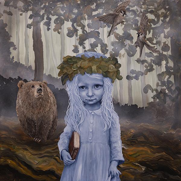 """Nature´s Caretaker I"" Acrylics on canvas 80 x 80 cm"